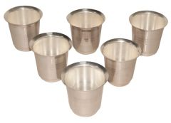 Coffee Glass 6 pcs Pack-Silver