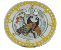 Mayil Plate with 2 Cups