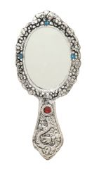 Metal Hand Mirror - 5.5 Inch